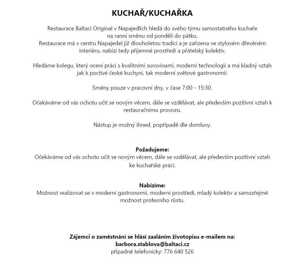 Pozice v gastronomii